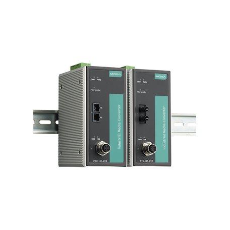 PTC-101-M12-S-ST-LV-T MOXA Ethernet Converter PTC-101-M12-S-ST-LV-T